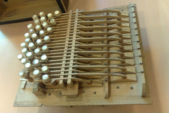 Устройство клавиатуры бандонеона