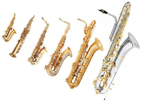 Виды саксофонов