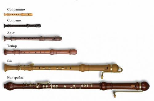 Виды блокфлейт