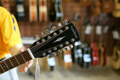 Гриф двенадцатиструнной гитары