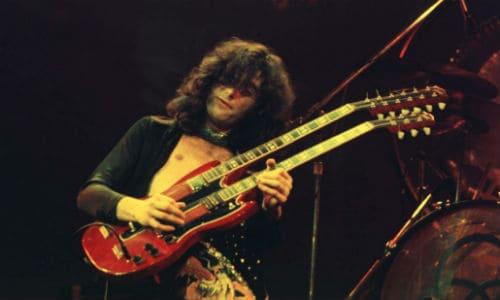 Джимми Пейдж с двухгрифовой гитарой