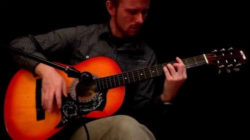 Игра на фолк-гитаре