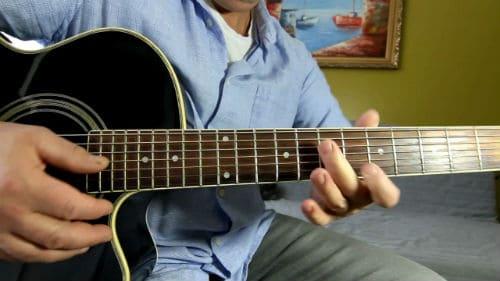 Игра на русской семиструнной гитаре