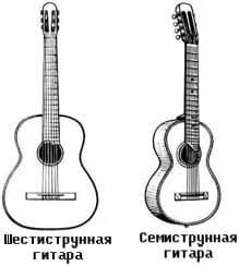 Отличие семиструнной гитары от шестиструнной