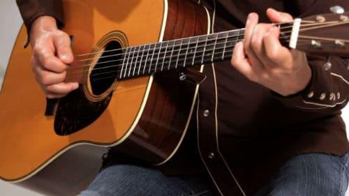 Игра на вестерн-гитаре